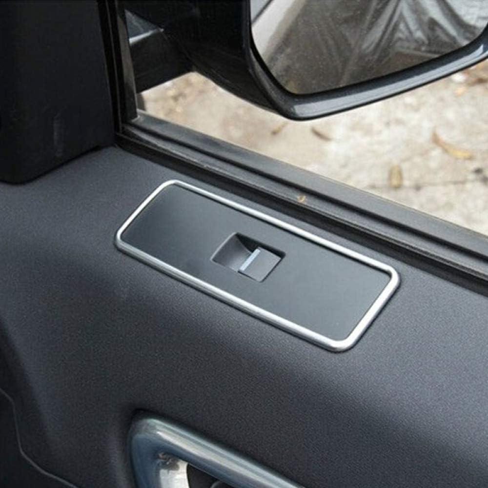 Auto-Styling-Zubeh/ör ABS Chrom Fensterheber Schalterrahmenverkleidung HKPKYK Dekorative Abdeckung f/ür Fensterheber,F/ür Land Rover Discovery Sport 2015-2017