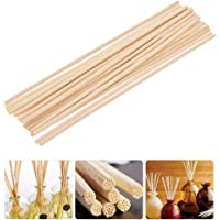 Sgoot Reed Diffuser Sticks Essential Oil Refill Reeds Natural Rattan Stick Wood Replacement for DIY Aroma Fragrance No Sent 12 inch Packing of 60