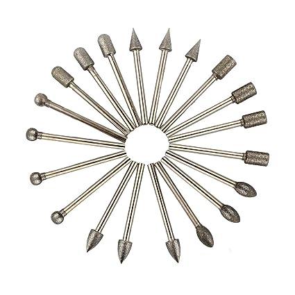 20pcs Diamond Tools Dremel Diamond Burs Abrasive Diamond Grinding Wheel Disc File Router Bit Polishing For Granite Stone Glass Tools