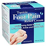 Topricin Foot Pain Relief Cream, 4 oz (Pack of 4)
