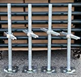 A set 4 New 1 3/8'' Scaffolding 24'' Adjustable Leveling Galvanized Screw Jack with Base Plate