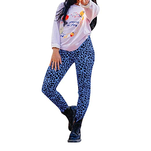 1dd7bc5bd521e AOJIAN Yoga Pants Leopard Buttery Soft Tummy Control Jogger Capri Workout  Running Sports Leggings for Women