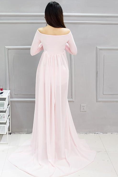 love-baby una vez piezas embarazo Photoshoot vestido gasa de longitud completa fotografía de maternidad vestido: Amazon.es: Electrónica