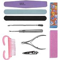 Set de limas de uñas profesionales Duevin, conjunto de herramientas de manicura y pedicura Lijado de esponjas Limpiador de esmalte para kit de aseo Kit de manicura de salón lavable