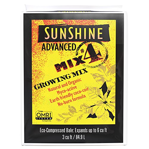 (SunGro Horticulture (504500CFC003P) SUGRADV3.0 3-Cubic Feet SunGro Horticulture Advanced 4 Sunshine Mix for Plants)