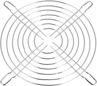 uxcell Finger Guard Metal Fan Grill Protector for 136mm x 136mm Case Fan Silver Tone