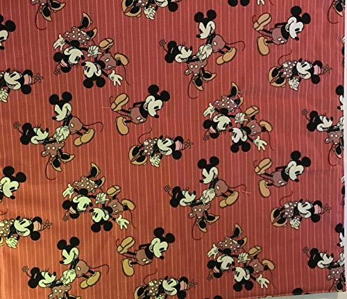 "American Girl Doll Quilt, Mickey and Minnie doll blanket, 18' x 20"" - 339"