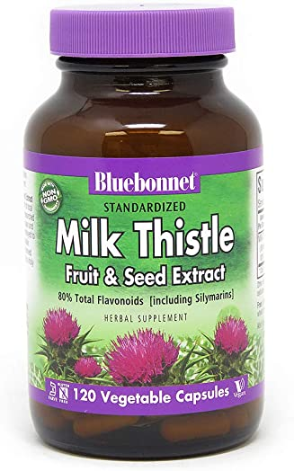 BlueBonnet Milk Thistle Fruit and Seed Extract Supplement, 120 Count