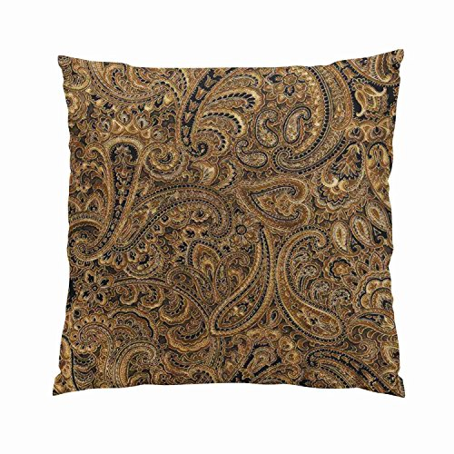 - SokiiyPrettyBrown Beigeand Black Floral PaisleyHidden Zipper Home Sofa Decorative Throw Pillow Cover Cushion CaseSquare18X18InchTwo Sides Design Printed Pillowcase