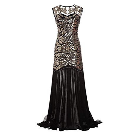2bbe750ef9f4 Amazon.com: Women 1920s Vintage Cocktail Party Dress Ladies Sexy ...