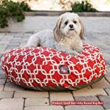 Teal Links Large Round Indoor Outdoor Pet Dog Bed