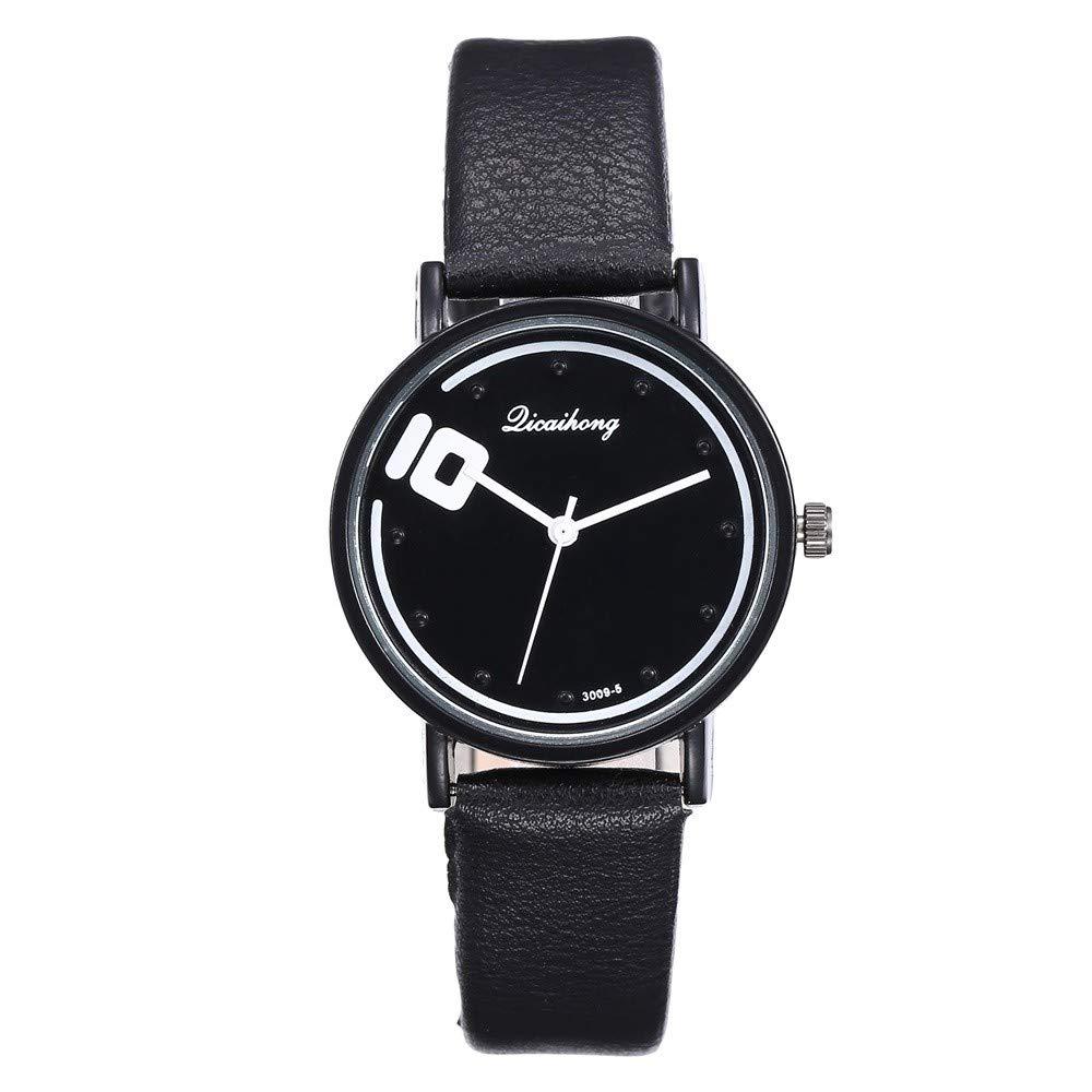 Parejas De Moda Relojes Banda De Cuero Artificial Cuarzo ...