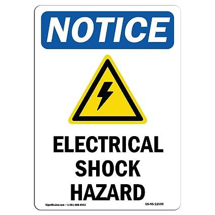 Letrero de advertencia de Osha - Señal de peligro de choque ...