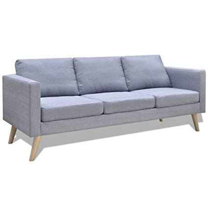 Amazon.com: vidaXL Sofa Couch 3-Seater Seating Living Room ...