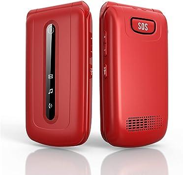 Ukuu 3G Teléfono Móvil con Tapa para Personas Mayores Dual SIM, Pantalla de 2,4 Pulgadas Teclas Grandes con SOS Botón, Cámara, Radio FM, Batería de 900 mAh Fácil de Usar para Ancianos: