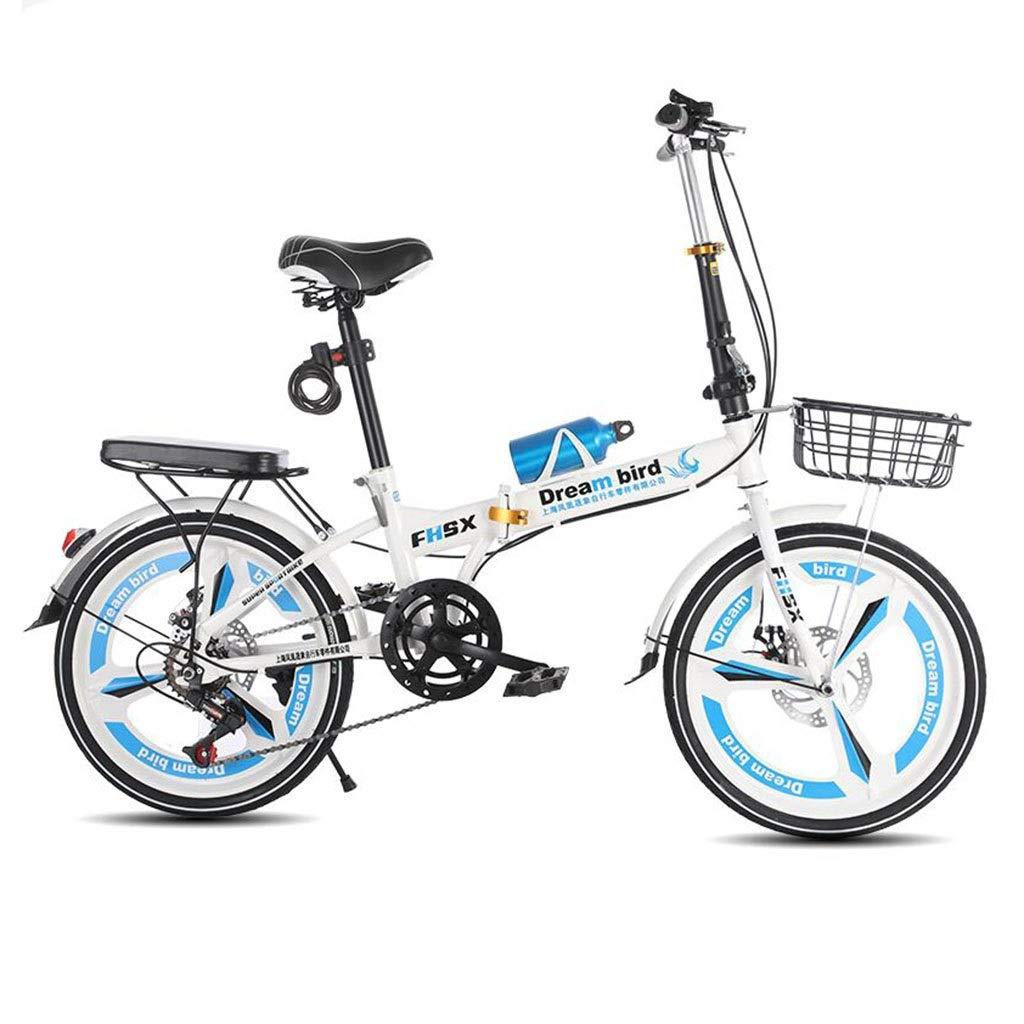 【税込】 折りたたみ自転車 折りたたみ自転車ブレーキ折りたたみ自転車女性の自転車6速20インチホイール付きシティ自転車 (Color : Blue, Size : : 150 (Color*30 150*30*100cm)*100cm) 150*30*100cm Blue B07PR42KHW, ガーデニングの森:00dfcdf4 --- senas.4x4.lt