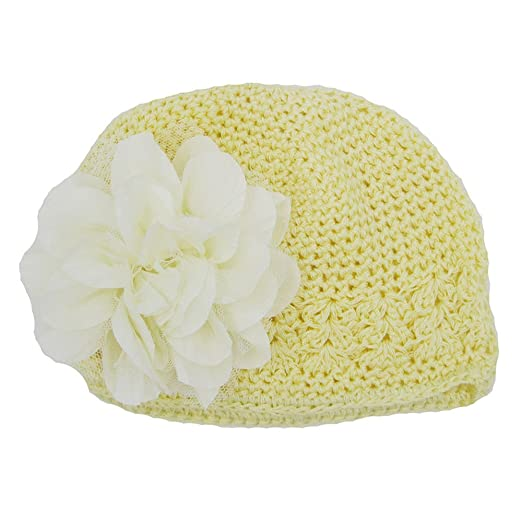 8900df964f9 Amazon.com  MeiYao Infant Baby Girl Baby Knit Hat Fashion Flower Hollow Hat  Headdress Slouchy Hat  Clothing