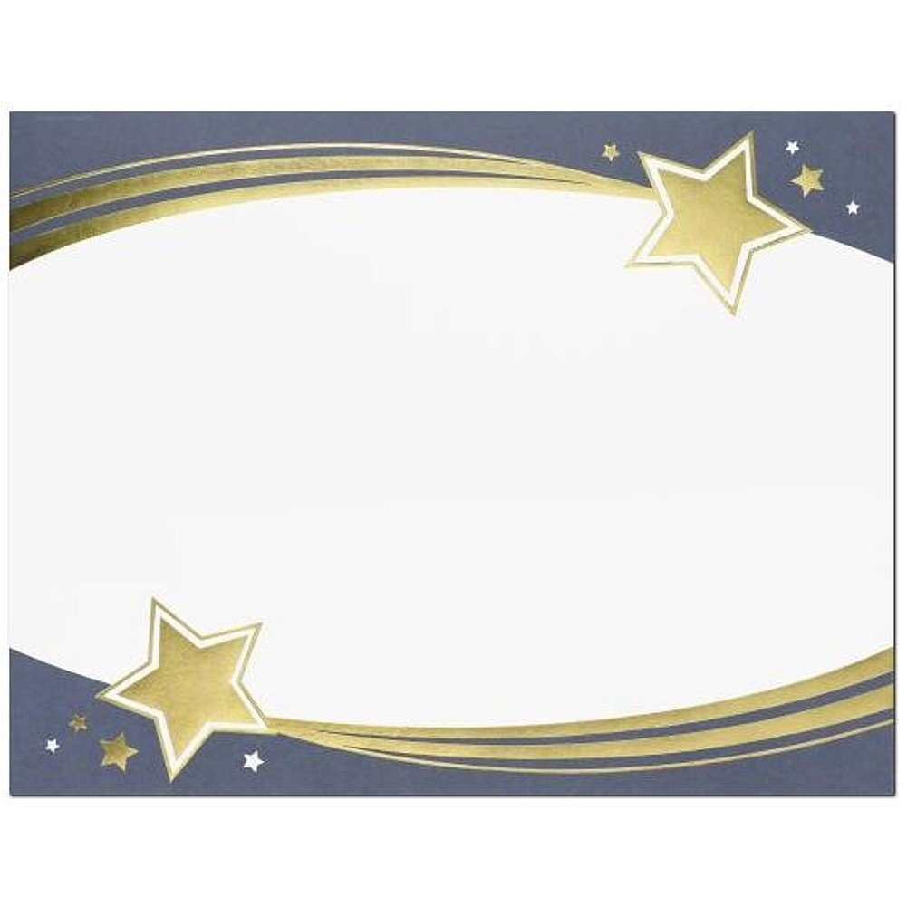 Shooting Stars Foil Certificates - Pack of 60
