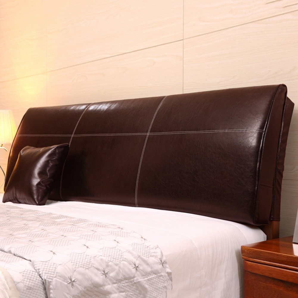 QIANGDA クッション ベッドの背もたれ バッククッション 大ウエストのサポート PUベッドヘッドピロー 疲労を和らげる ベッドルーム、 ソリッドカラー8種類、 4サイズ 利用可能 ( 色 : ダークブラウン , サイズ さいず : 200 x 12 x 55cm ) B079Z97JQD 200 x 12 x 55cm|ダークブラウン ダークブラウン 200 x 12 x 55cm