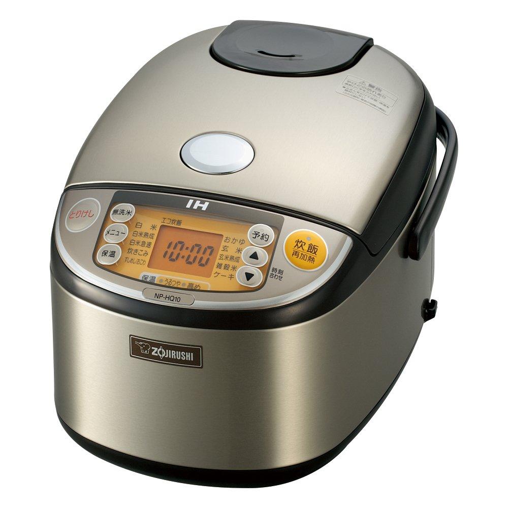 ZOJIRUSHI IH Pressure Rice Cooker 5.5 Cups Stainless Steel NP-HQ10-XA