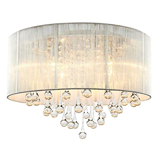Cristal Lámpara de techo Cromo Moderno Elegante Focos de ...