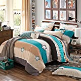 Bedding Duvet Cover Sets Cotton Home Collection Decor For Adult Children Kids Boys Girls Teen Dorm 4Pcs Quilt Cover×1,Flat Sheet×1,Pillowcases×2 Wedding Thanksgiving Christmas Birthday Gift,For Kids Full 180*220cm