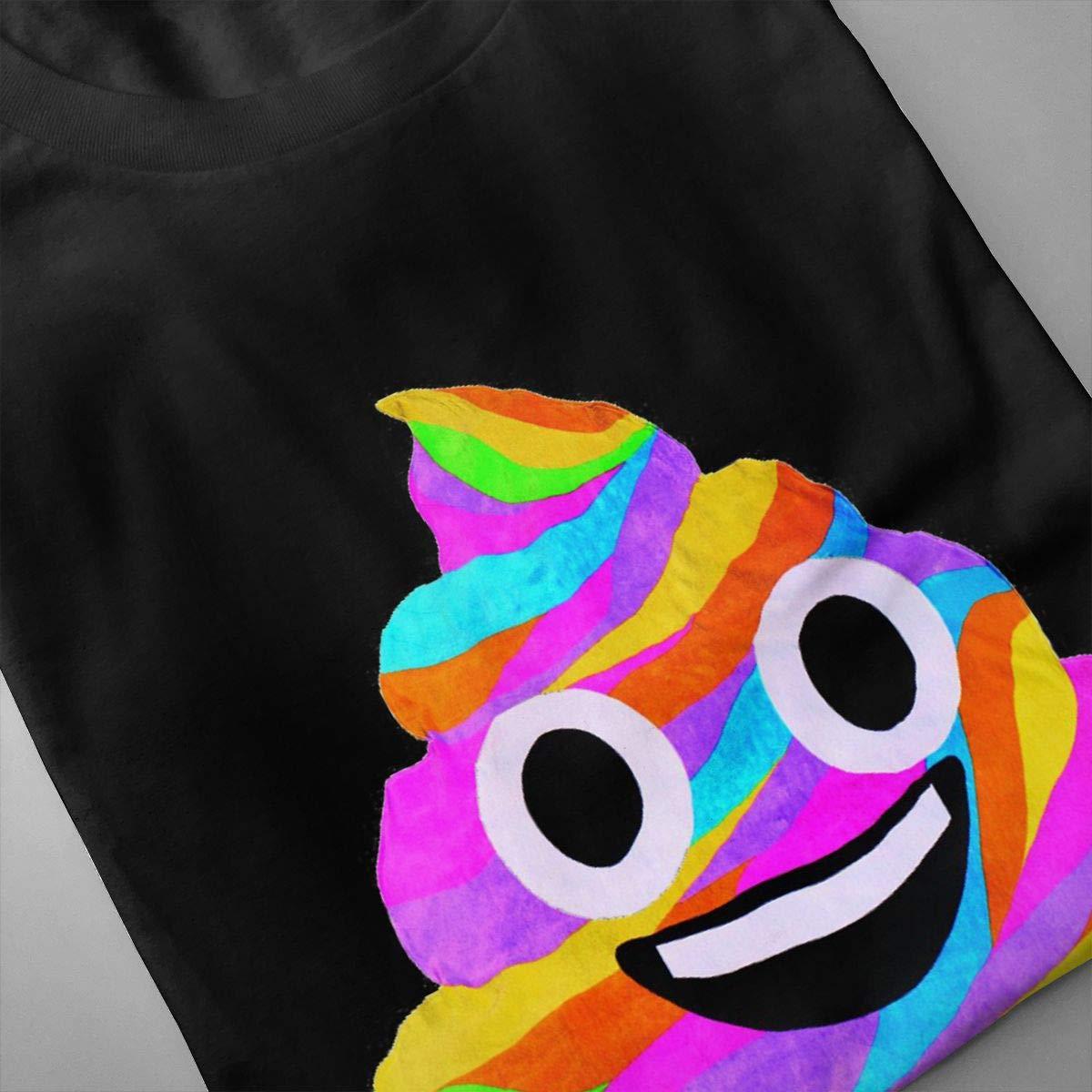 Chouven Mens Rainbow Poop Emoji Short Sleeve T-Shirts