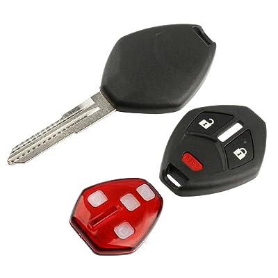 Key Fob Keyless Entry Remote Shell Case & Pad fits Mitsubishi Outlander Lancer Mirage i-MEIV: Automotive