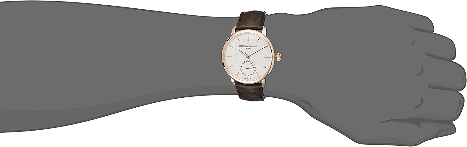 Frederique Constant Men s FC-710V4S4 Slimline Manufacture Analog Display Automatic Self Wind Brown Watch