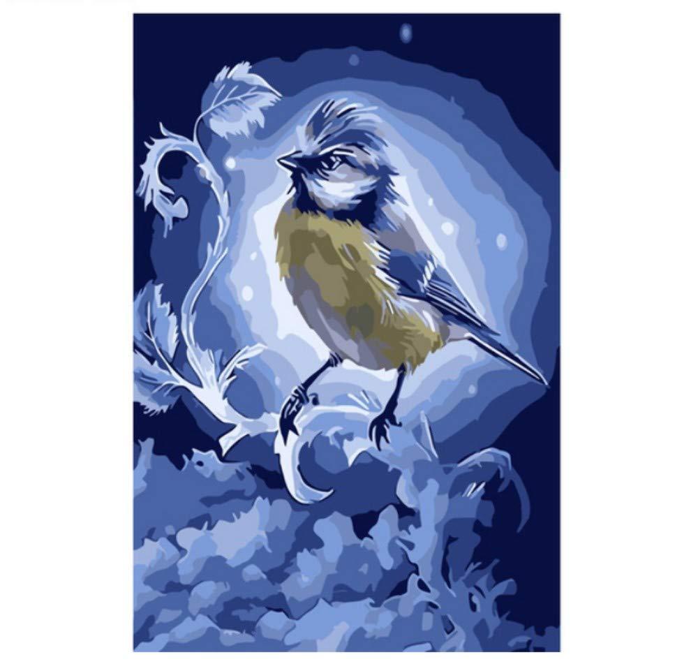 wubaiaiwo Photo sans Cadre Home Decor Peinture DIY par Numéros Fleur Moderne Numérique Toile Peinture À l'huile Mur Art 40X50Cm