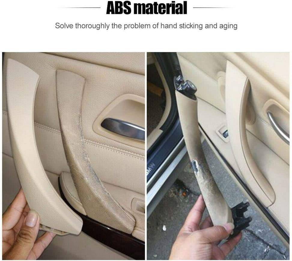 JF Room MOOHOP Car Interior Door Handle Right Rear Door Handles Outer Cover Interior Door Trim Covers for BMW 3 series E90 E91 316 318 320 325 328 330 I7T8 Outer Pull Trim Cover