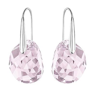 e070b2c52 Amazon.com: Swarovski Light Amethyst Crystal JEWELRY Pierced Drop Earrings  GALET Rhodium #5023083: Jewelry