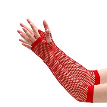 Red Long Sleeve Gloves