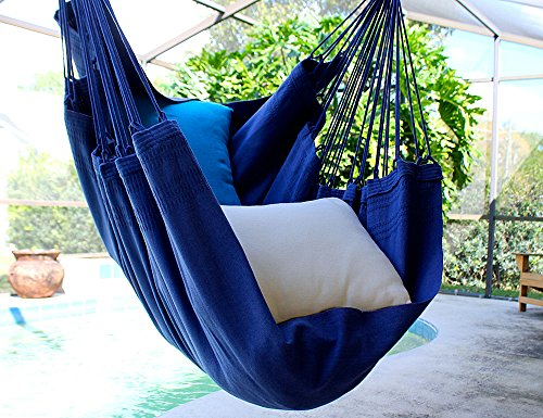 Blue Beach – Fine Cotton Hammock Chair, Made in Brazil