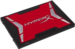 HyperX Savage 240GB SSD SATA 3 2.5 (7mm Height) (SHSS37A/240G) Internal Solid State Drives at amazon