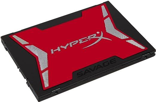 "195 opinioni per Kingston HyperX SHSS37A/480G Savage SSD, 480GB, SATA 3, 2.5"", Rosso/Nero"