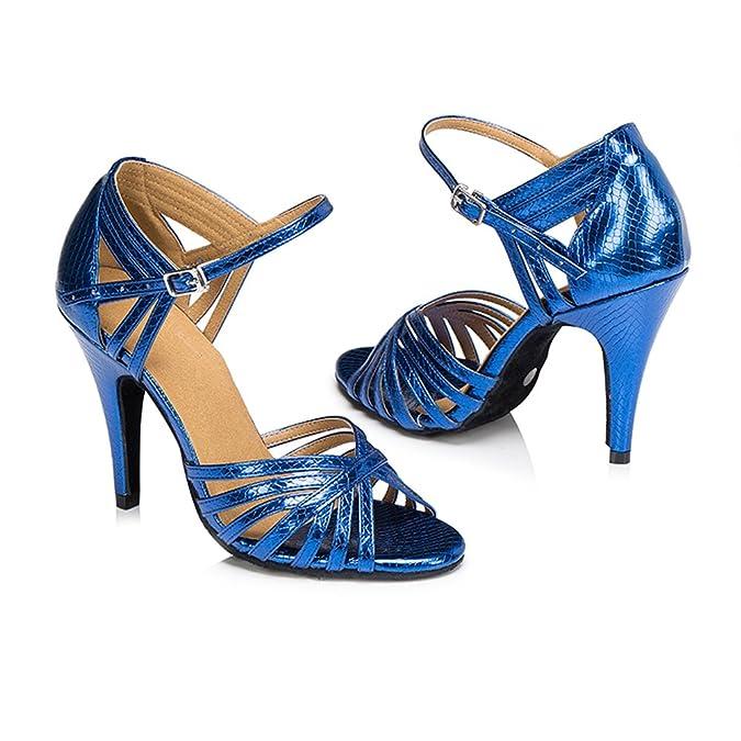 misu - Zapatillas de danza para mujer azul azul, color azul, talla 38