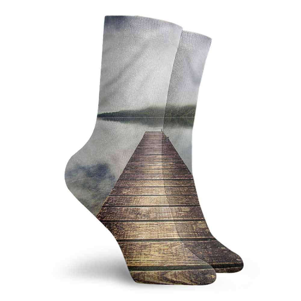Men Fashion Socks Landscape,Mountain Trees in China,socks men pack dress