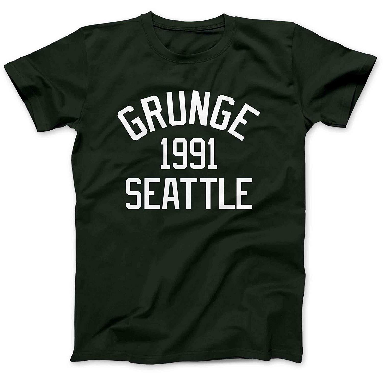 Ctpring Funny Tees Grunge Music Seattle 1991 T Shirt 5092