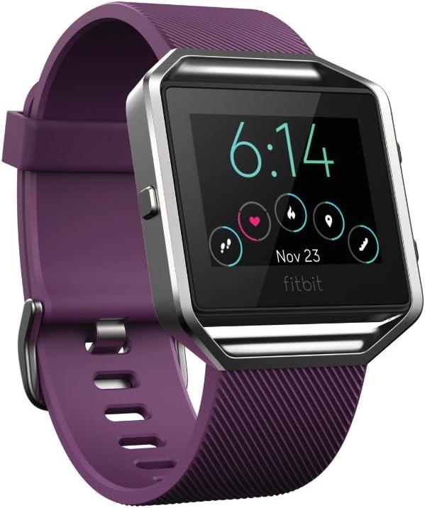 TALLA S. Fitbit Blaze - Reloj inteligente para actividad física, unisex, color ciruela, talla S