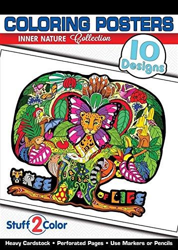 (Inner Nature - Premium Coloring Poster Tablet (10 Designs))