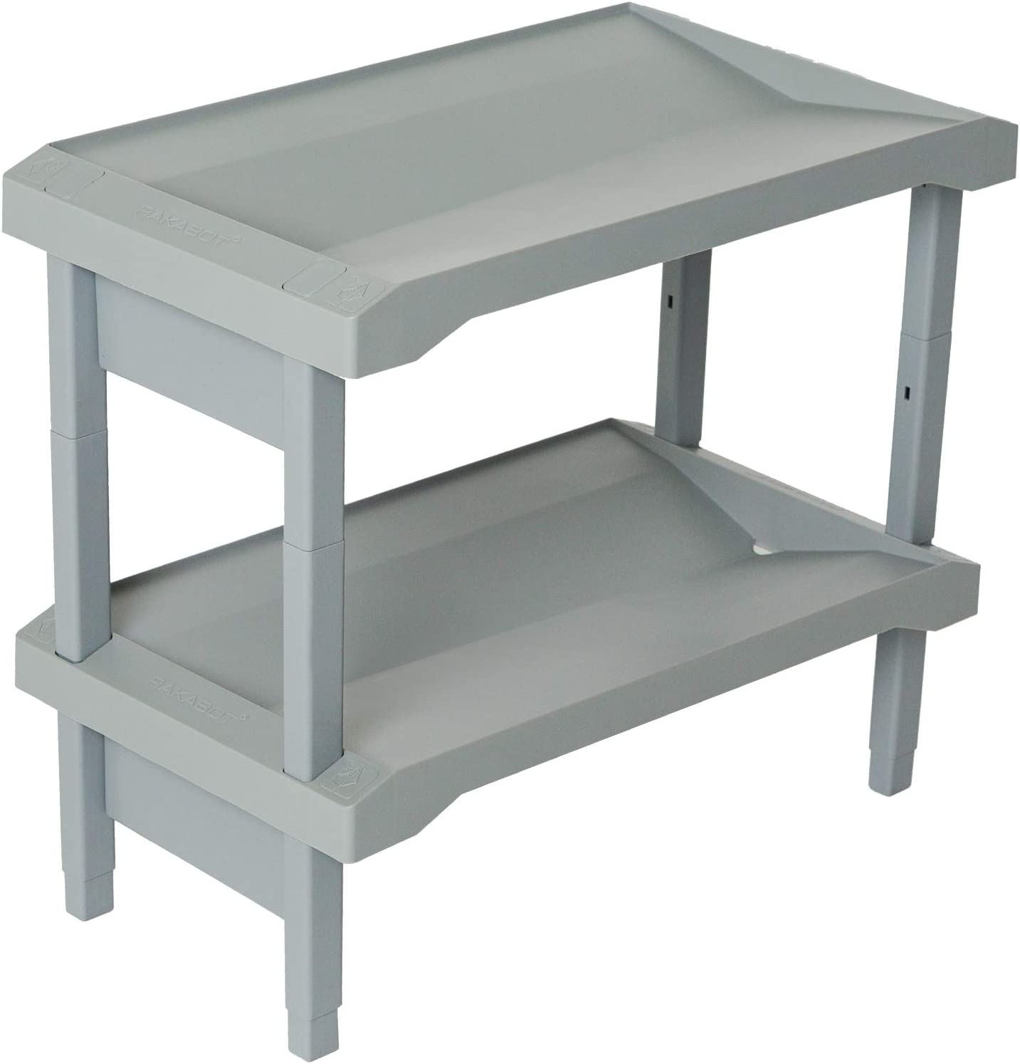 Water Collecting Unique Shoe and Boot Rack for Home 23.5 Inches 2 Levels Store up to 6 Pairs of Shoes
