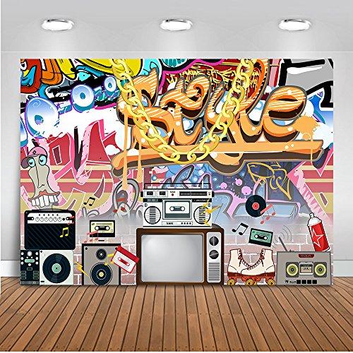 Mehofoto Hip Pop 80s 90s Backdrop Graffiti Rock