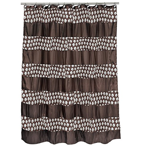 Royal Bath Bedazzled Bling Oil Rubbed Bronze Fabric Shower Curtain (70