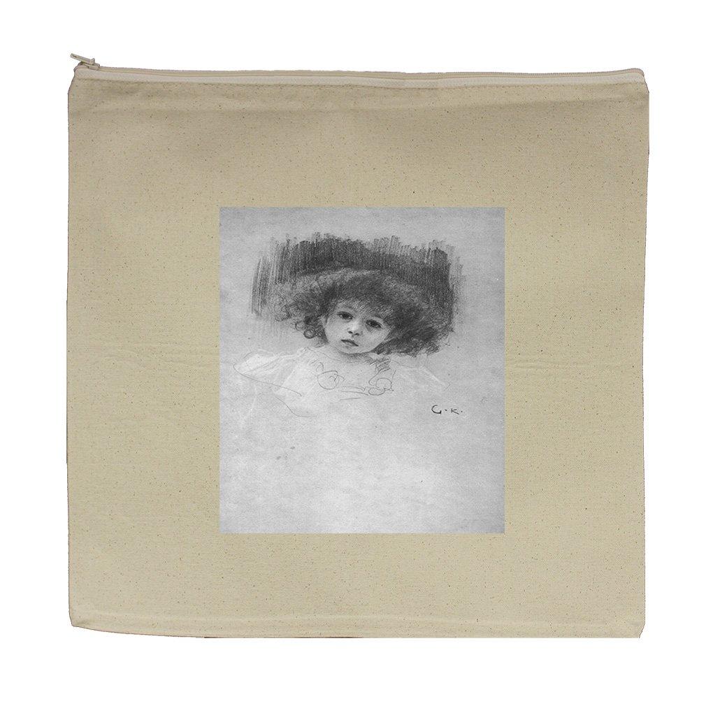 Breast Image Of A Child (Klimt) Canvas Zipper Tote Bag Makeup Bag