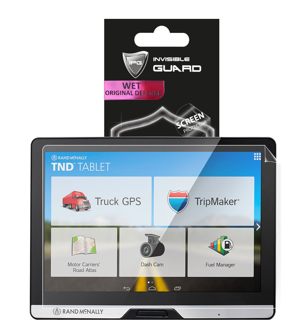 Anti-Glare RAND McNally TND 80 (8'' Dashboard Tablet) Touch Screen Radios Screen Protector Invisible Ultra HD Clear Film Anti Scratch Skin Guard - Smooth/Self-Healing/Bubble -Free by IPG