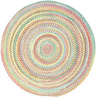 "product image for Capel Baby's Breath Natural 0' 15"" Round Braided Rug"