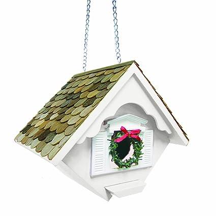Christmas Birdhouses.Home Bazaar White Christmas Wren Birdhouse