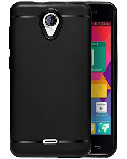 new concept b19e4 c5a89 ECellStreet® Silicon Soft Back Cover Protective Case for Micromax Unite 2  A106 (Black)