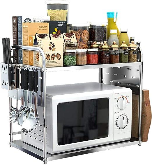 XUEYAN Estantes para la Cocina Estante para Horno de microondas, 2 ...